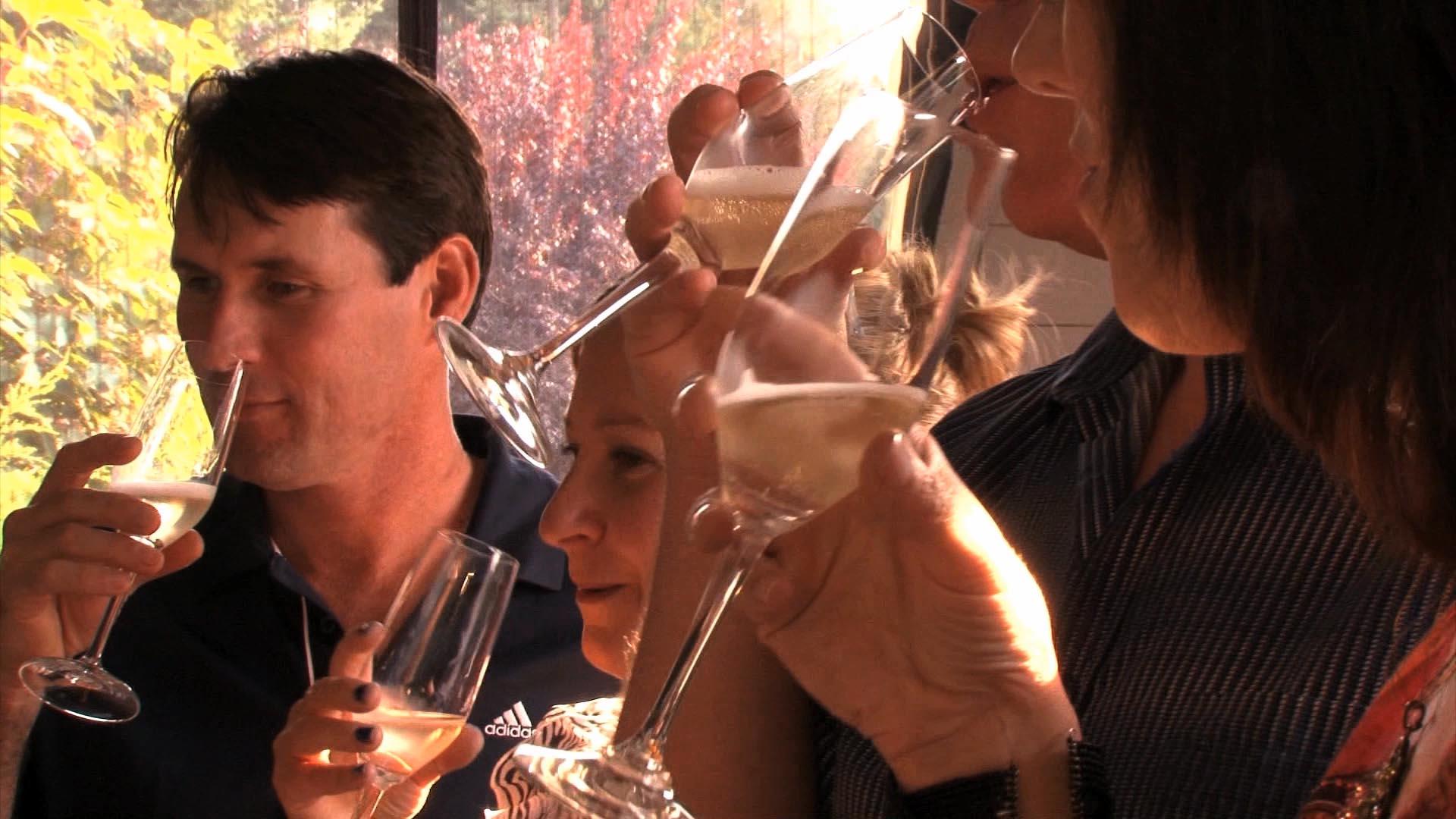 Wine tasting on Vancouver Island