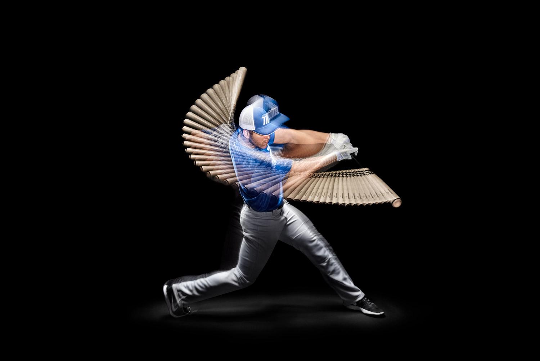 Baseball image retouching sample