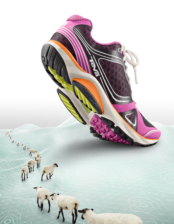 Retouched Pink TEVA Footwear