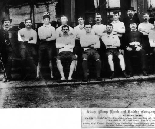 Firefighters of the Silver Plume Hook and Ladder Company