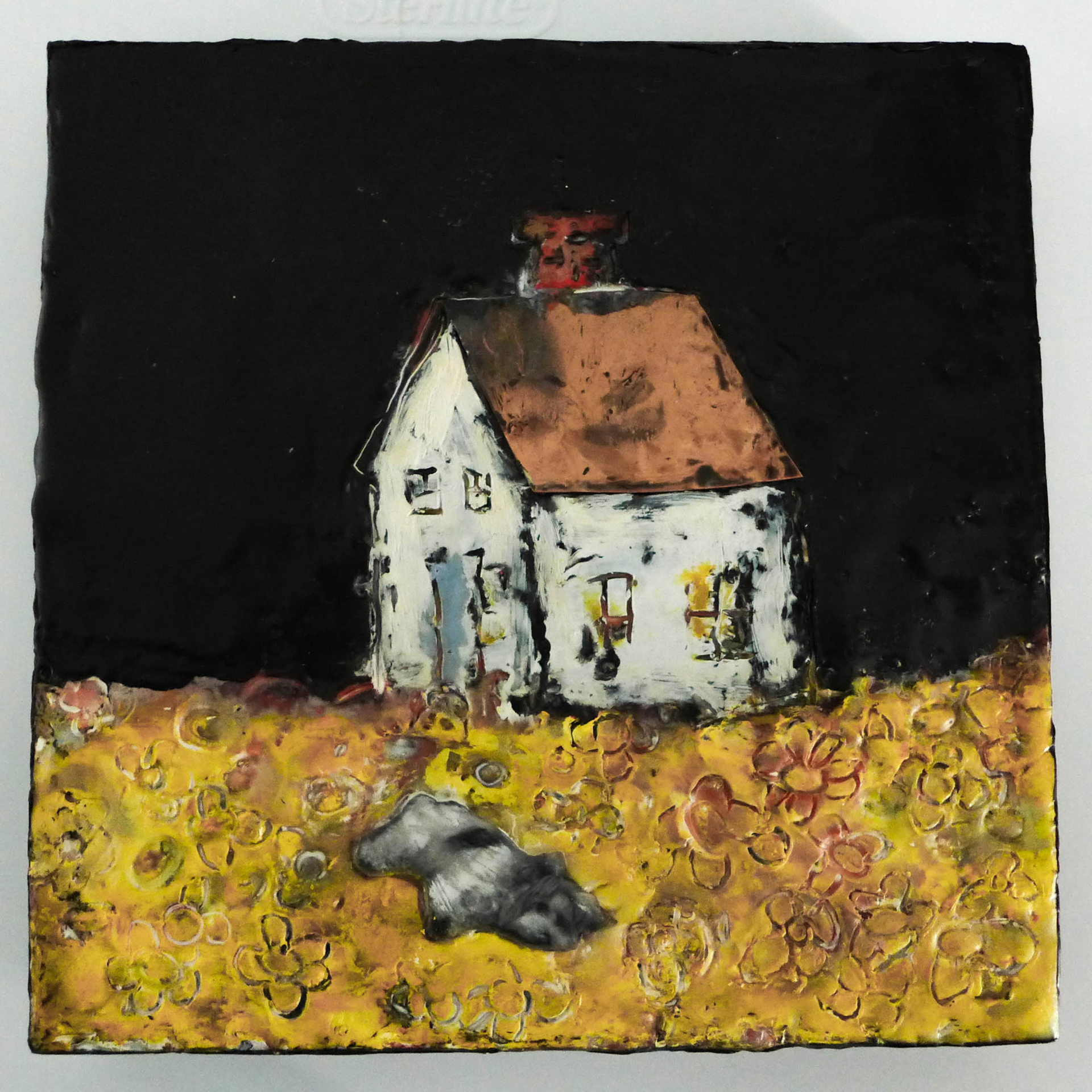 """""""House Stories #3"""", 8x8x1.5 inches"""