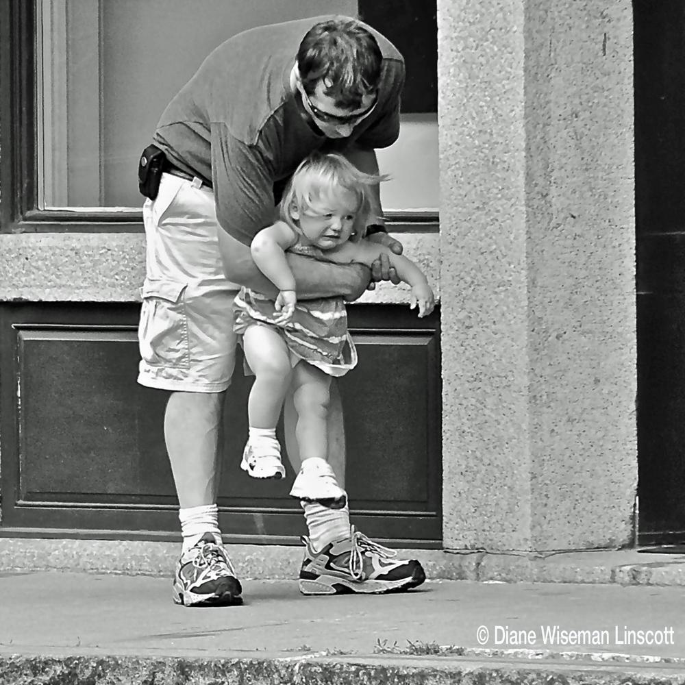 """""""Candid Children:Dad on sidewalk"""""""