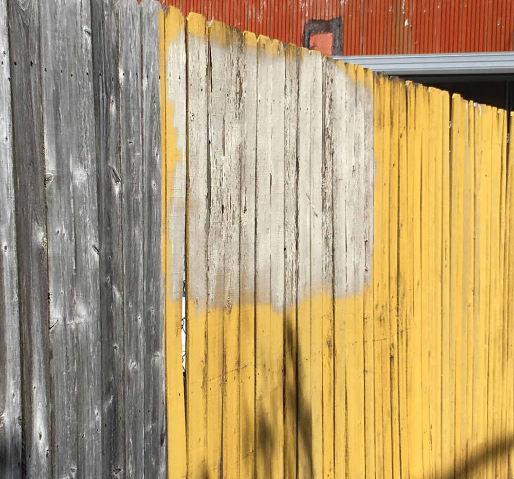 """Street Abstracts: """"Yellow Gray Fence"""" - SRD"""