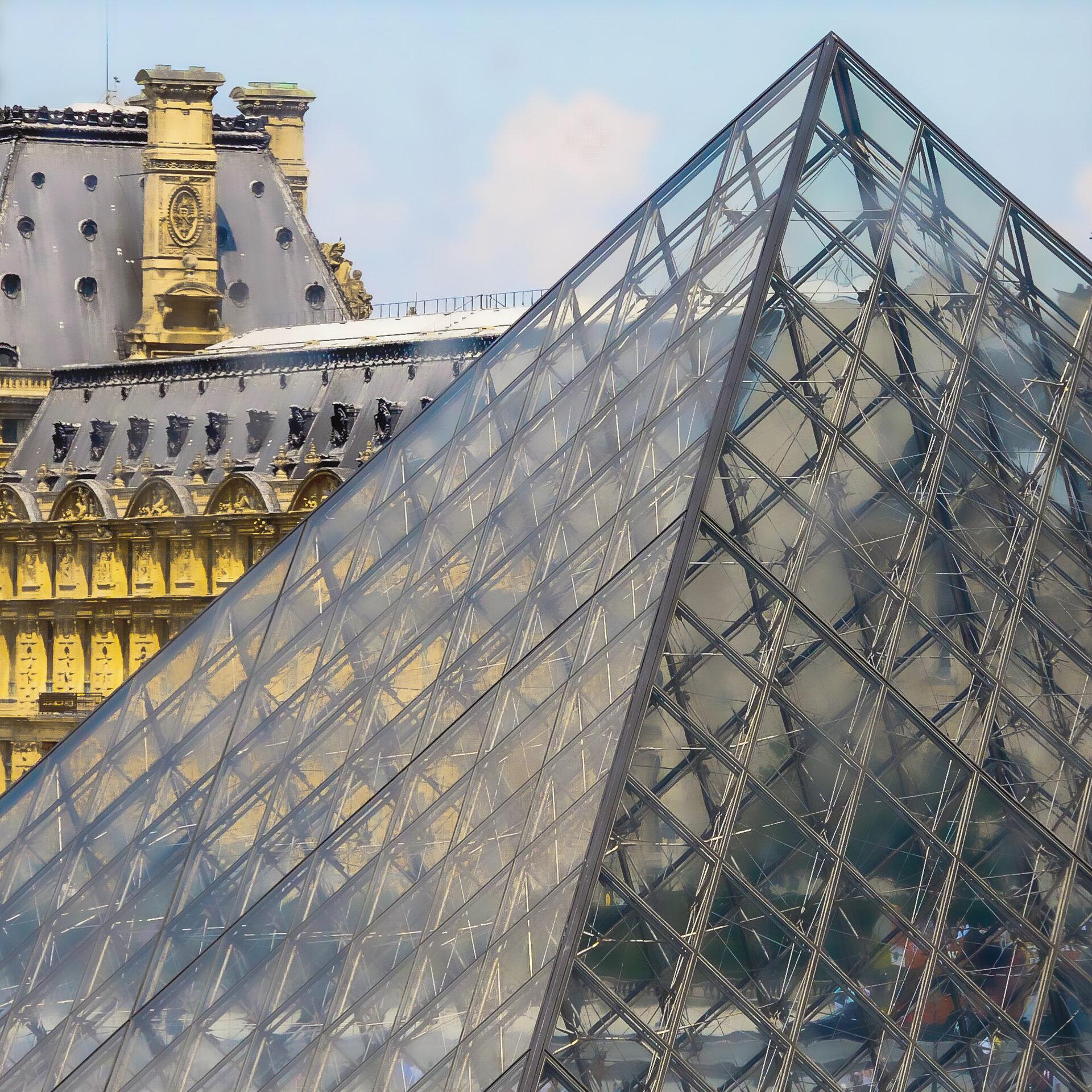 Paris Canvas, Louvre, © Diane Wiseman Linscott