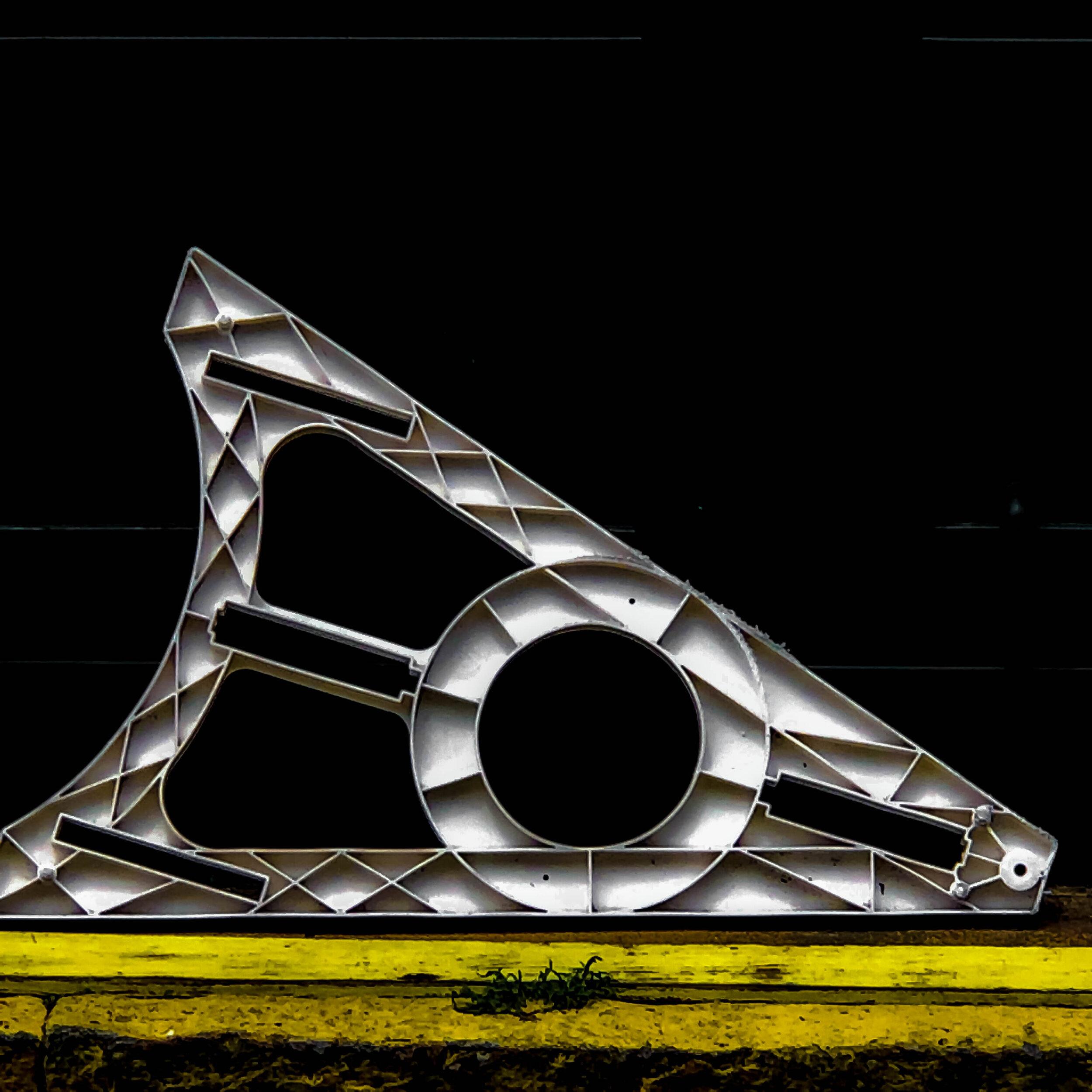 Street Abstracts-white barrier black white yellow, © Diane Wiseman Linscott