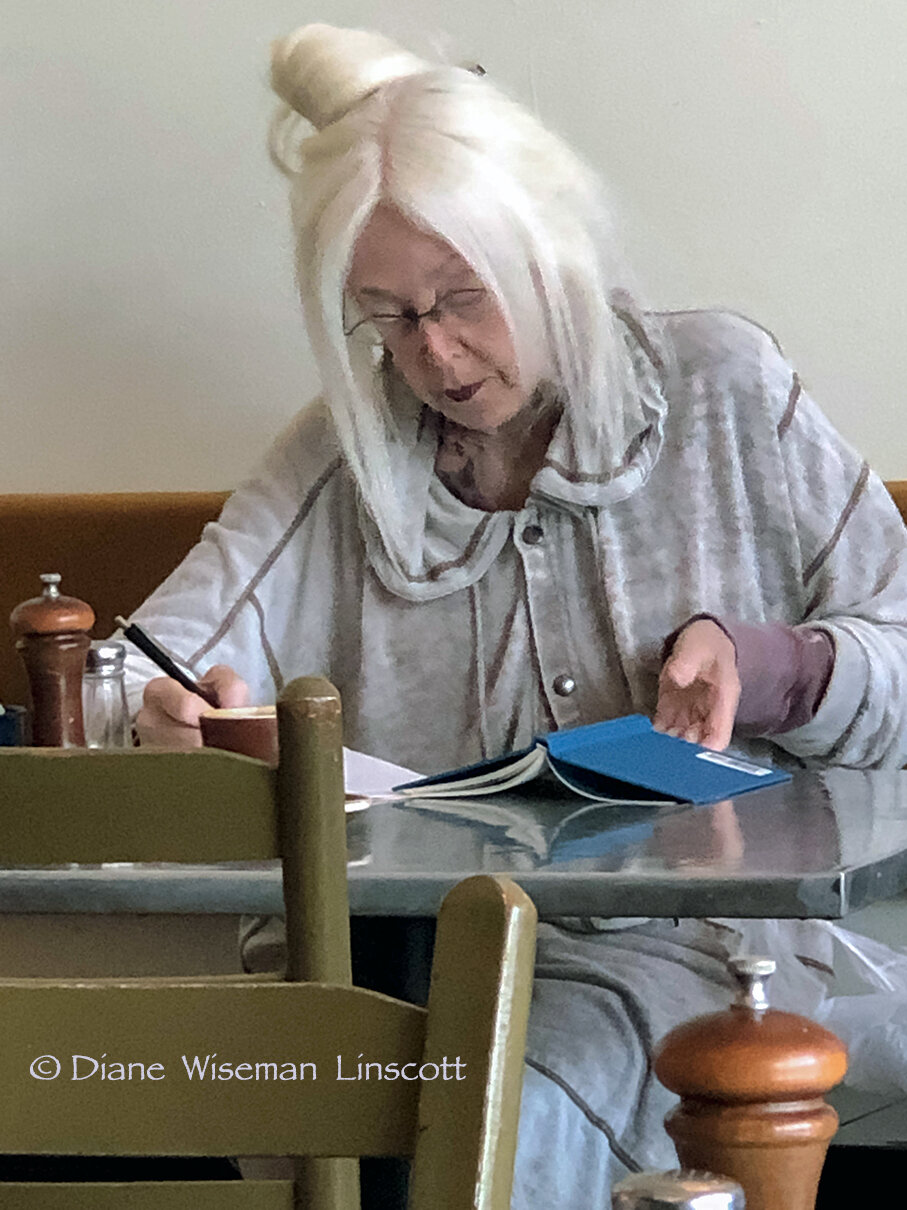 People Series-Woman With Blue Book, © Diane Wiseman Linscott