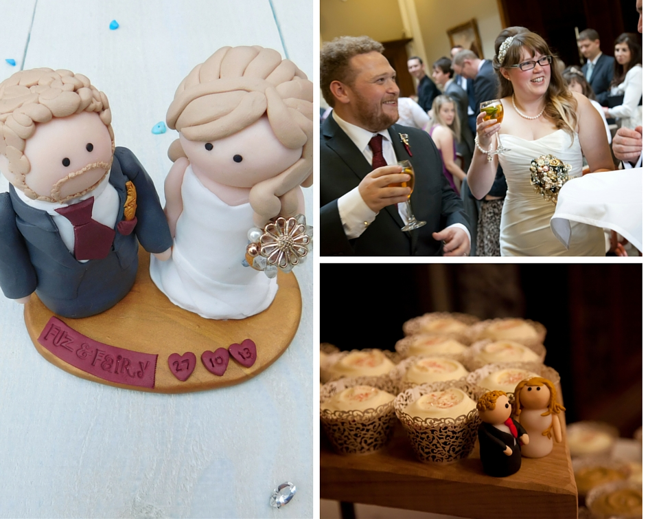 Cake topper collage
