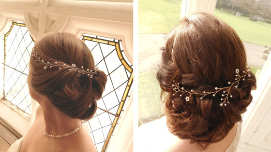 Fit your vine around curls or weave it into plaits. Left: Syreeta vine; Right: Leanne vine, both part of the new Inspired collection