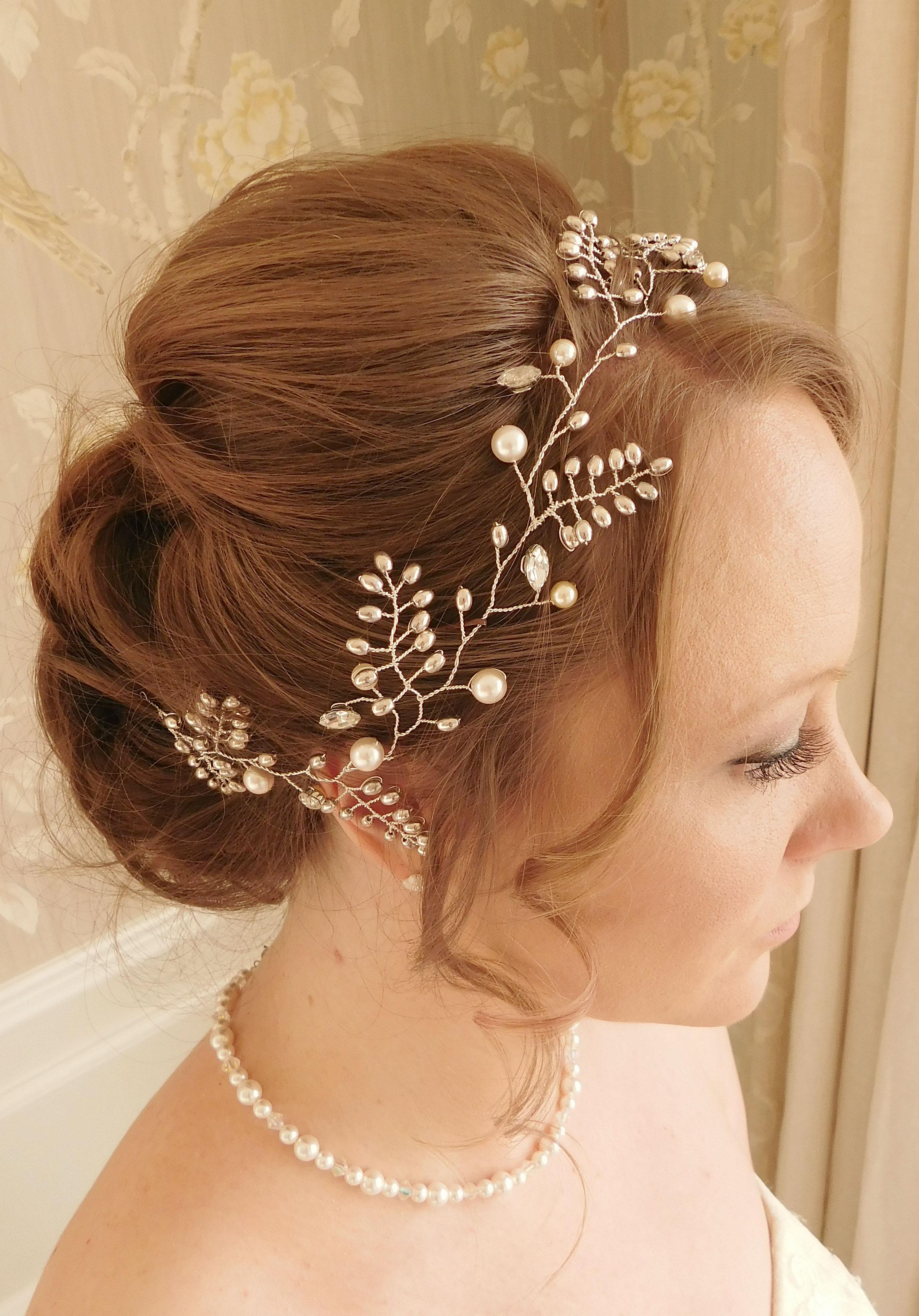""" Elizabeth hair vine "", worn to the side"