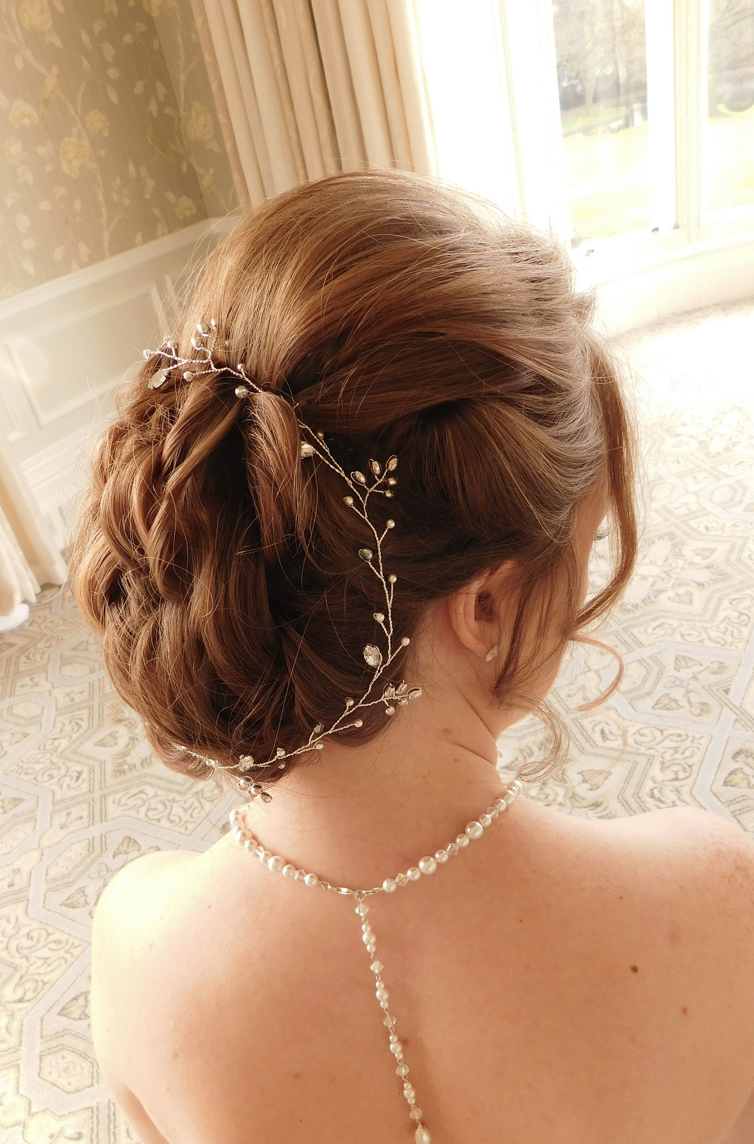 """""""Sophie"""" hair vine , styled around an up-do"""