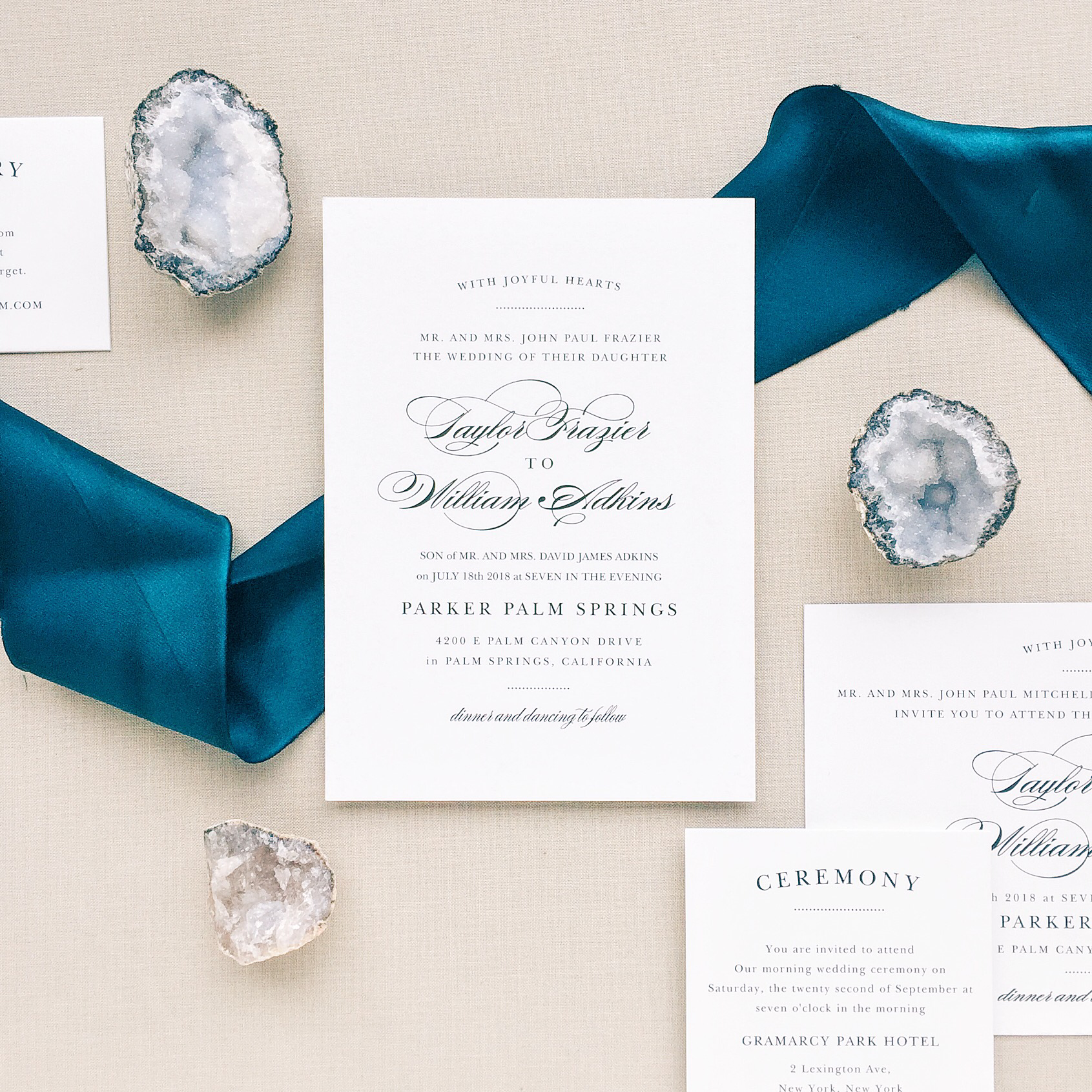 Beautiful unique wedding invitations from Basic Invite. Image courtesy of Basic Invite