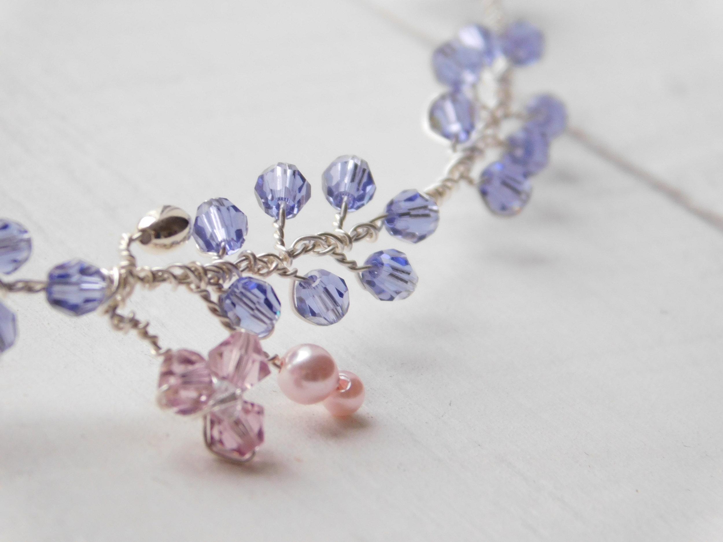 Lavender crystal necklace