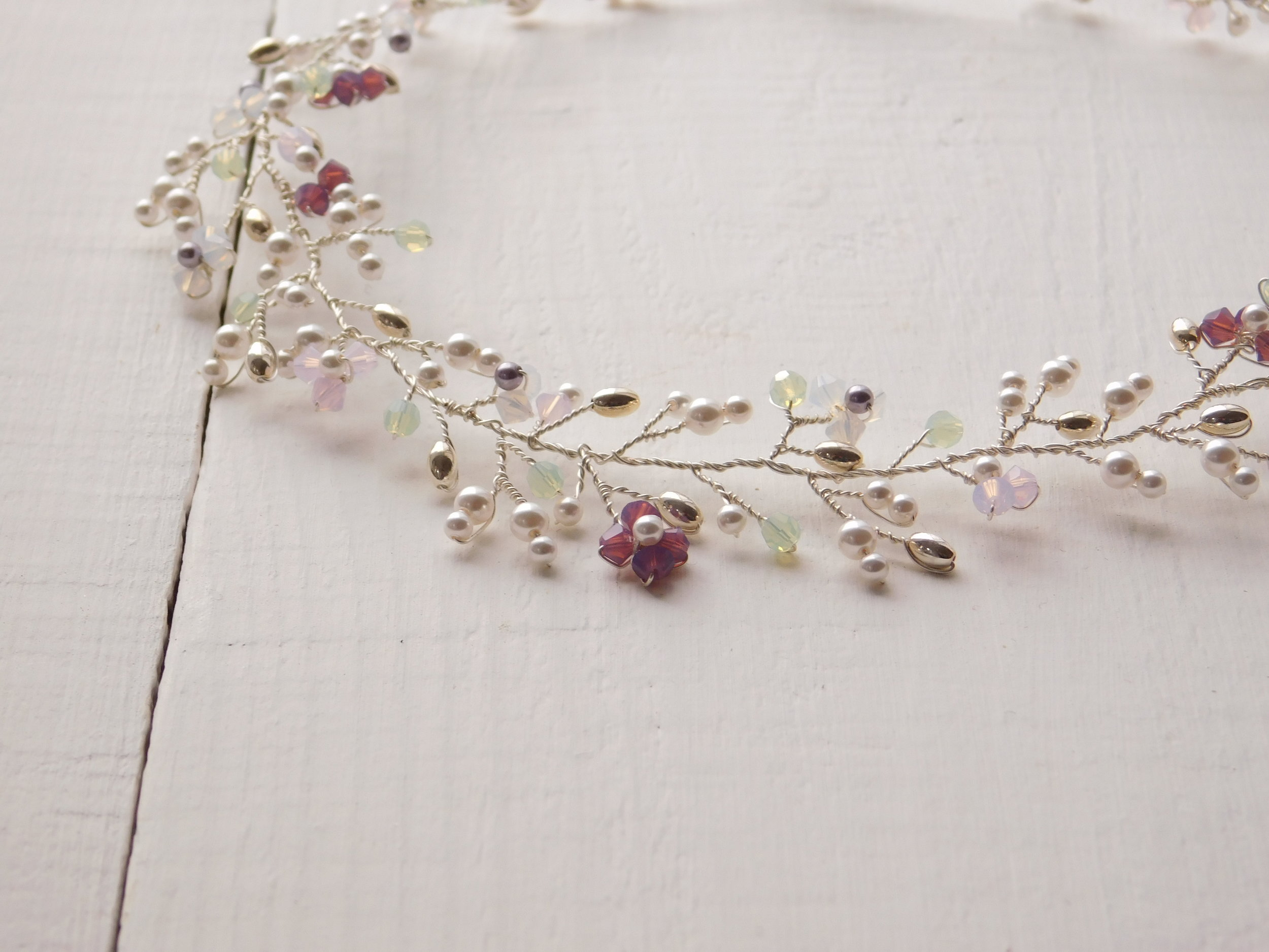 Orchid inspired necklace