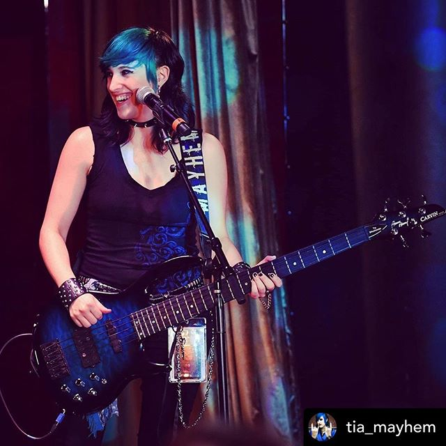 Posted @withrepost • @tia_mayhem - Any Michiganders interested in a couple bass lessons?! I'll be in town until September! Hit me up if you wanna learn a little something! ANY skill level, ANY age welcome! ($60/hour $35/half hour) 💙🖤🎶🤘 . . . 📸 @pcrean  #bassteacher #basslessons #femalebassist #femalebassplayer #rockerchick #girlbassist