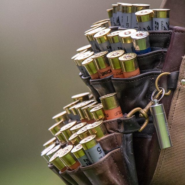 With a cartridge bag like this and a Loader, the barrels have precious little time to cool down. #hamishbaird_photography #guncartridges #gameshooting