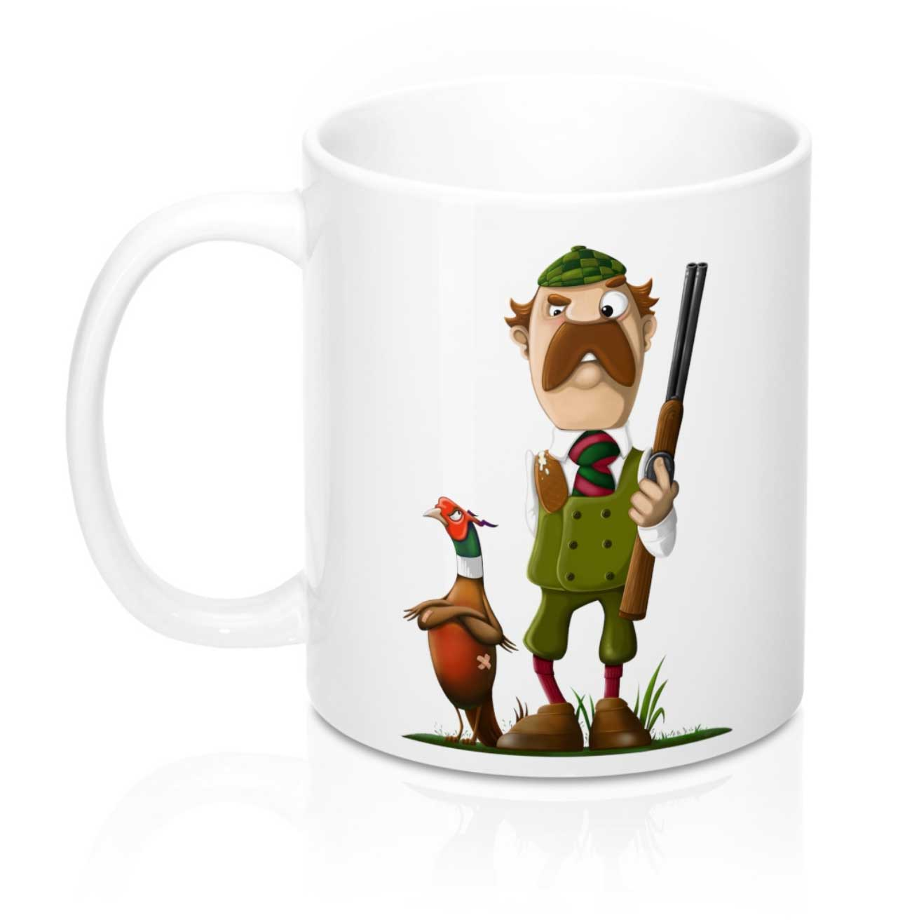 My 'Tommy Two Barrels & The Unpleasant Pheasant' mug design