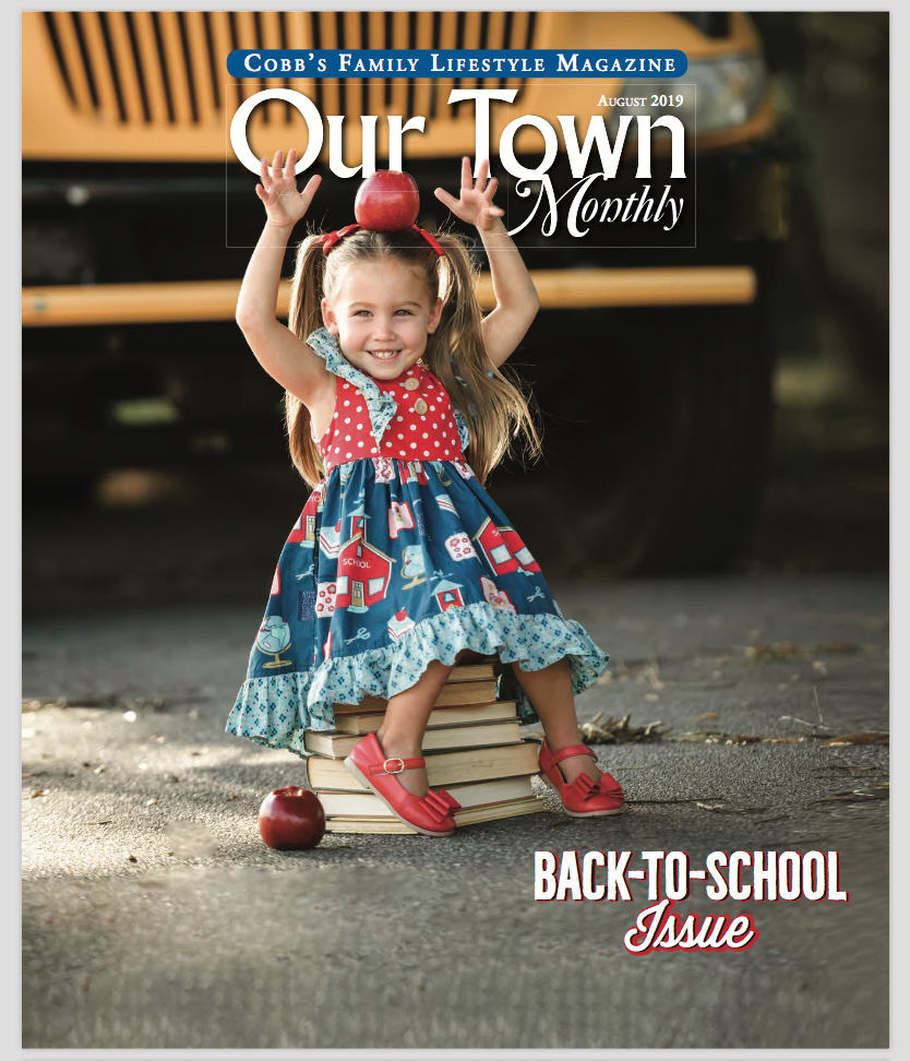 Our Town Monthly Magazine-August 2019 - Liz by Design was chosen to be the featured photographer for Our Town Monthly (Cobb County) Magazine for August 2019! Check out the cover and page 8 of the digital copy, just Click Here.