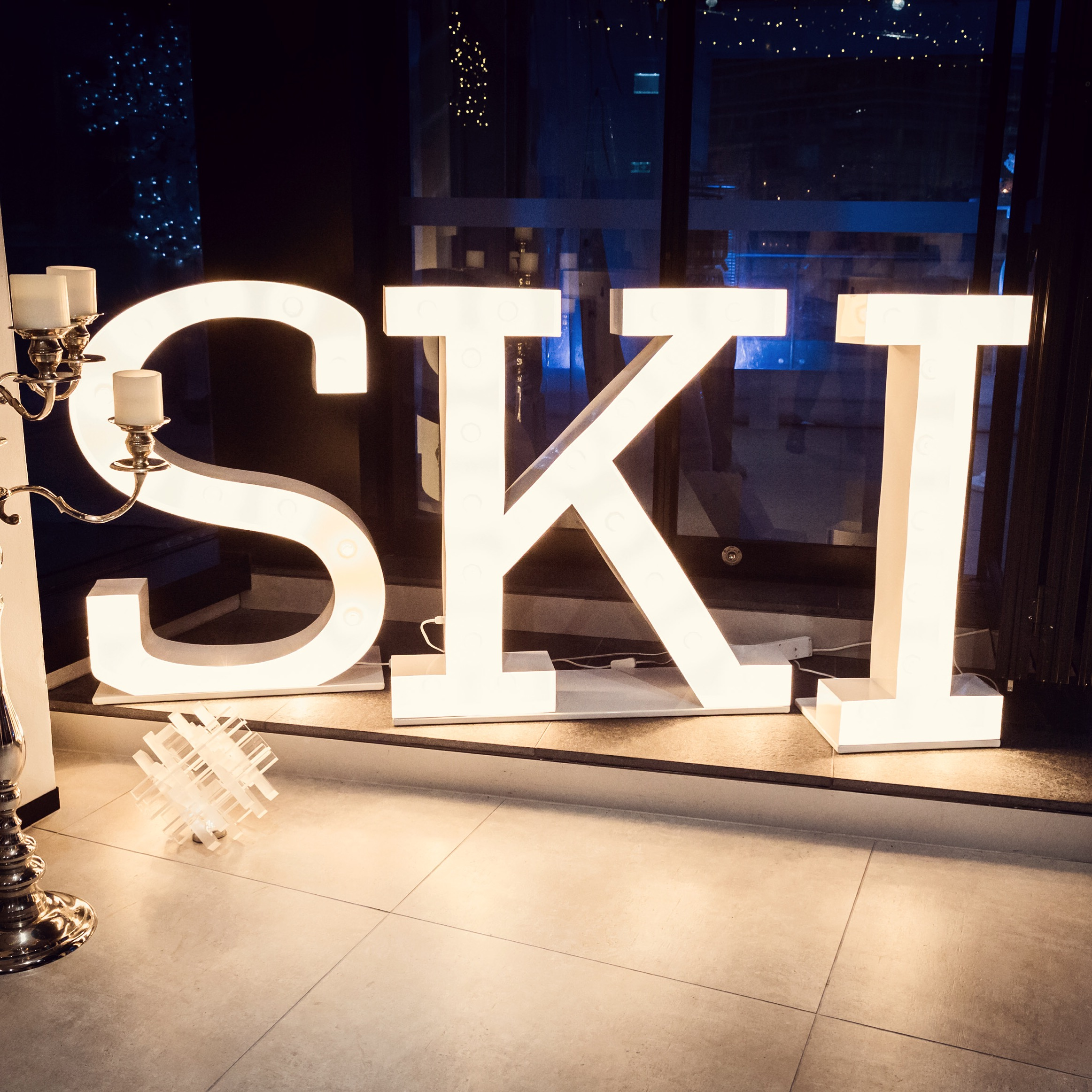 Letter Light Hire Corporate Event