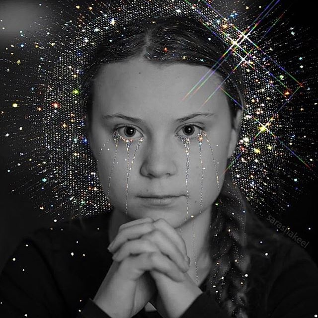 """""""Humans are very adaptable: we can still fix this. But the opportunity to do so will not last for long. We must start today. We have no more excuses."""" - Greta Thunberg #gretathunberg (Image Credit: @sarashakeel)"""