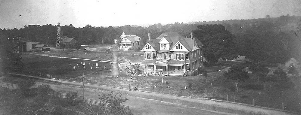 The property before the building of the school in 1907