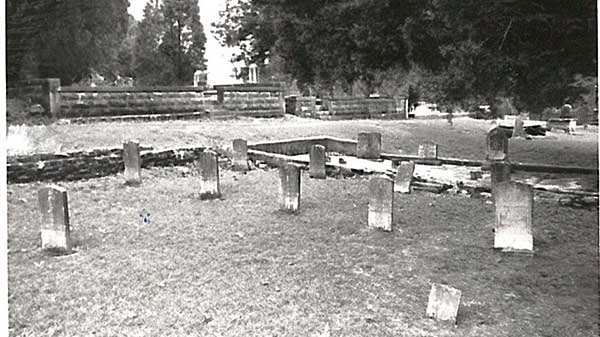 Burial site of Ansley and 18 children they lost to sickness between 1893 and 1923