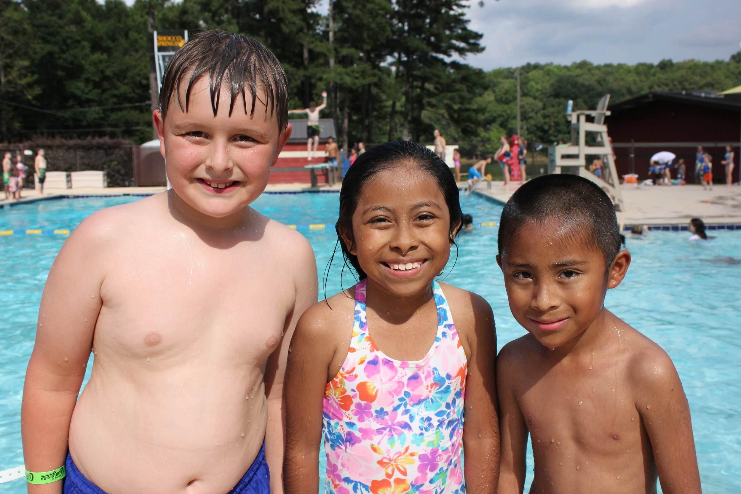 Kids having fun at Camp of Champions