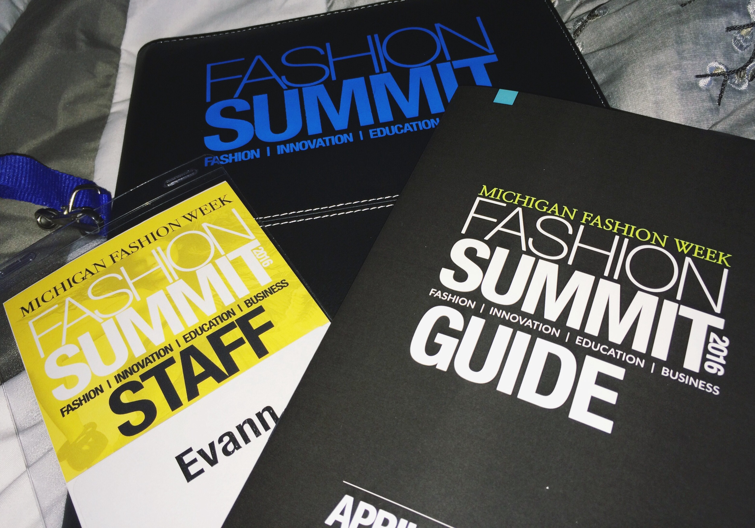 Michigan Fashion Summit essentials.