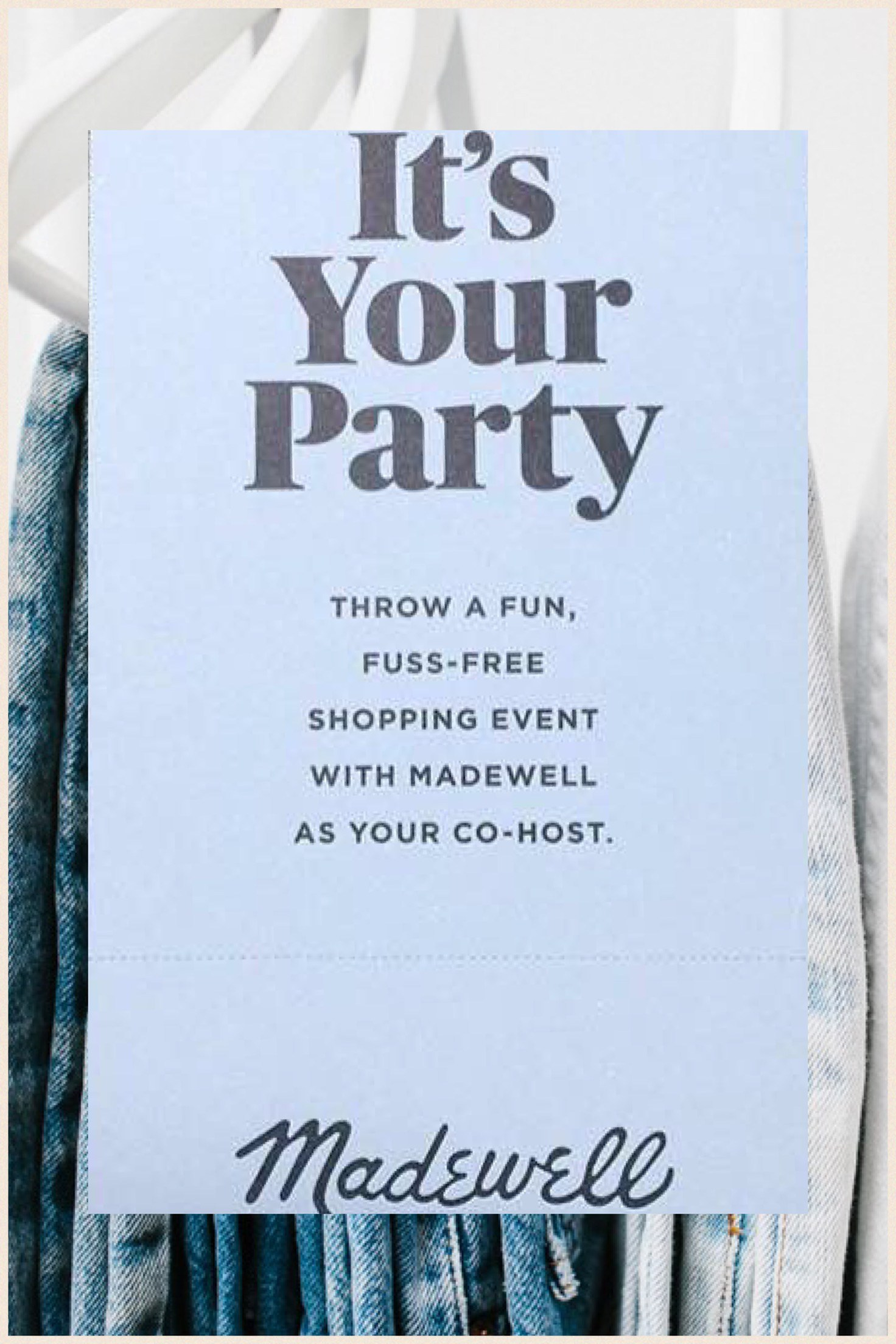 Host a Party with Madewell -