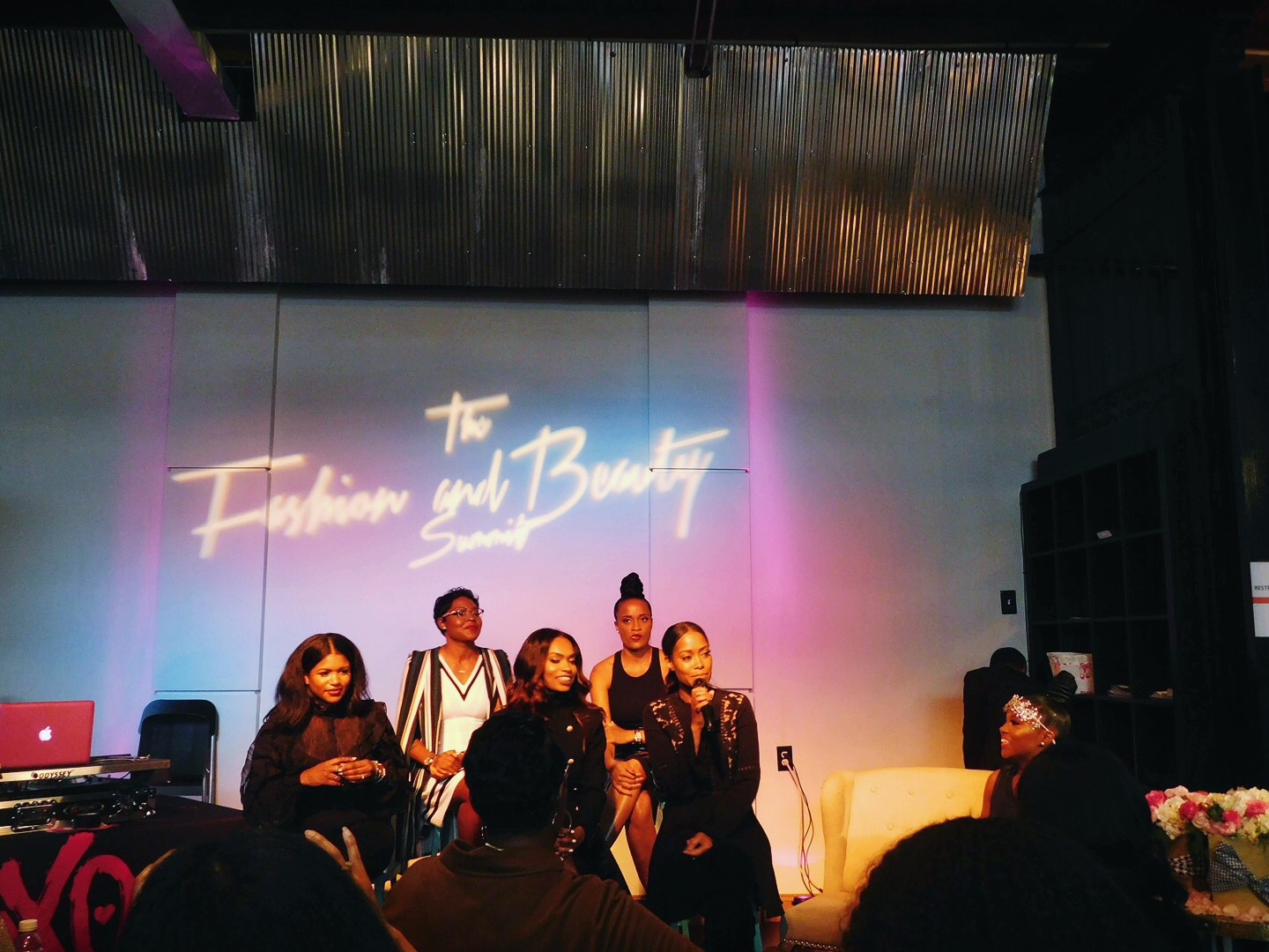 Industry Style Panelists (from left to right): Kelly Babara-Ford Kirkwood, C'Erra E., Kristina Bowman-Smith, Terry-Ann Phillips, Latrice Delgado-Macon.