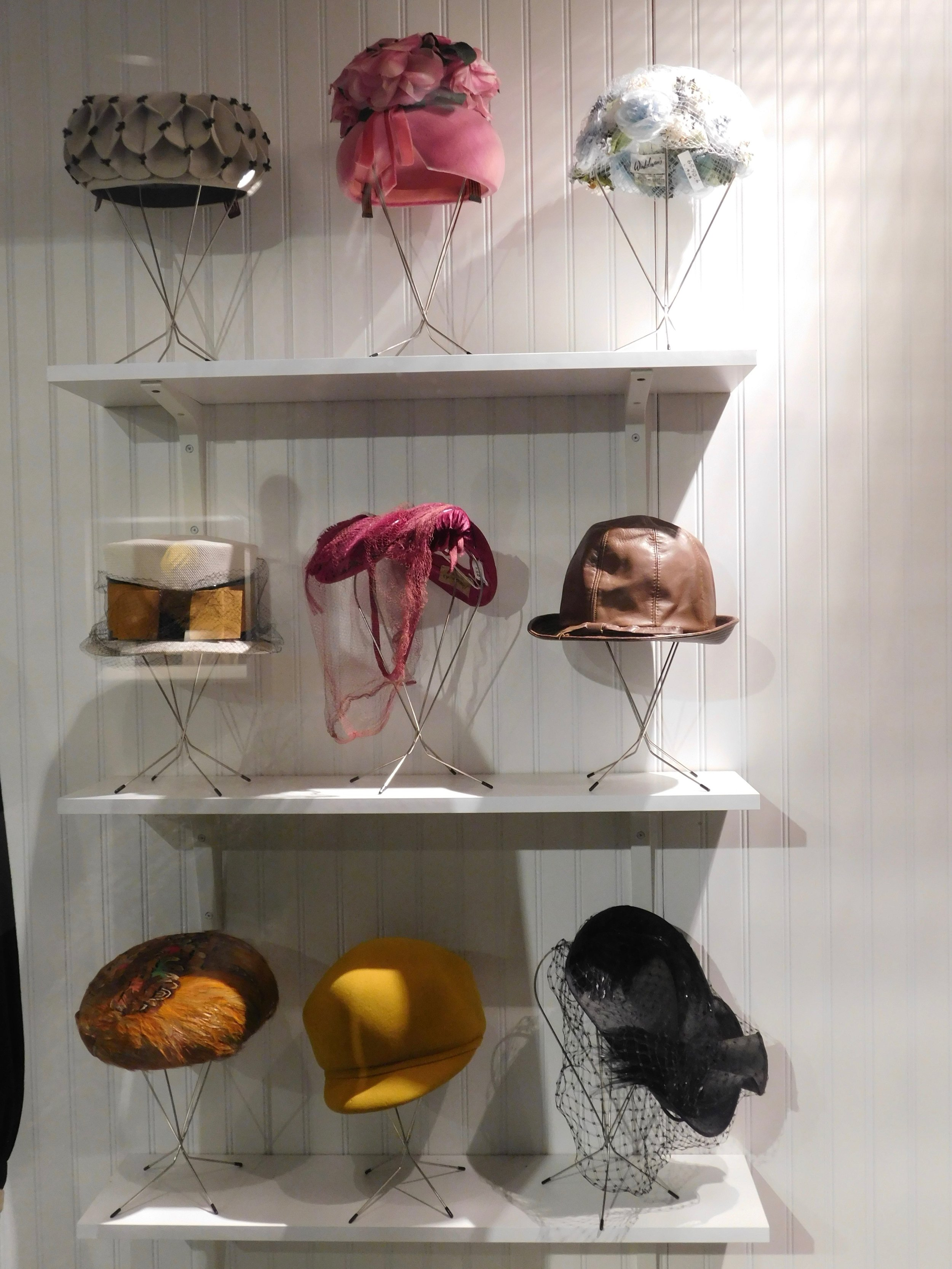 Hats and fascinators.