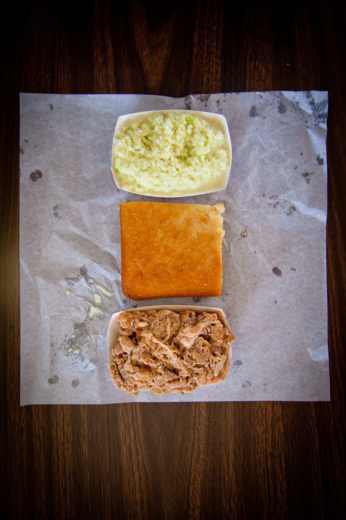 BBQ Tray, Slaw, Bread