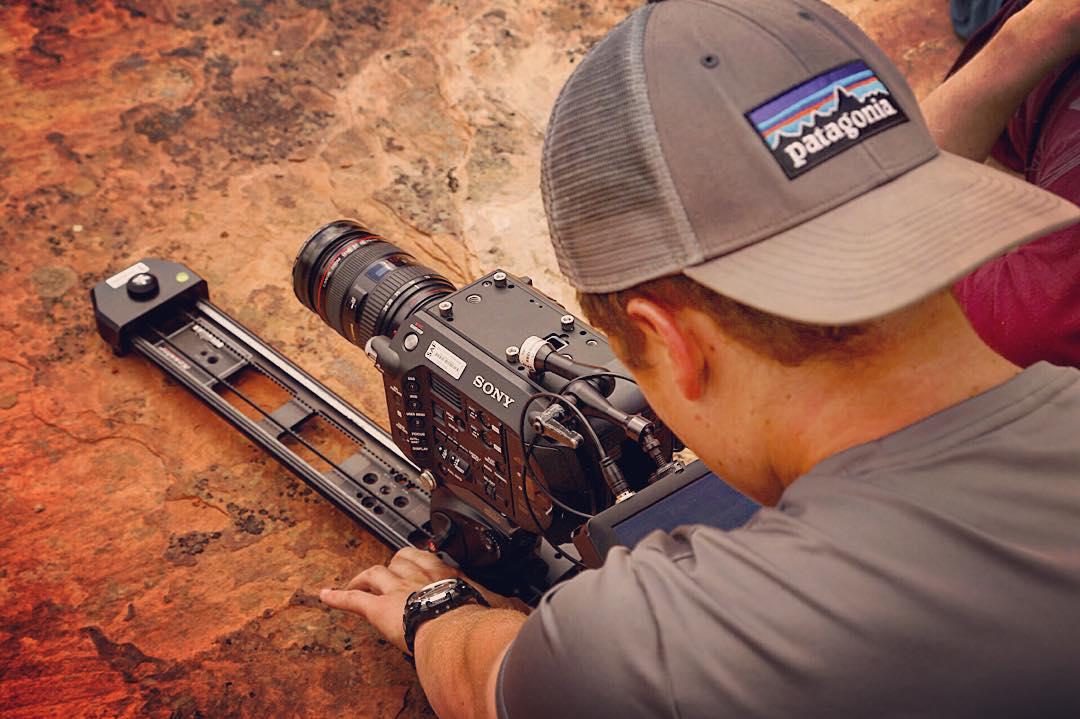 Cameras and sliders in Utah.