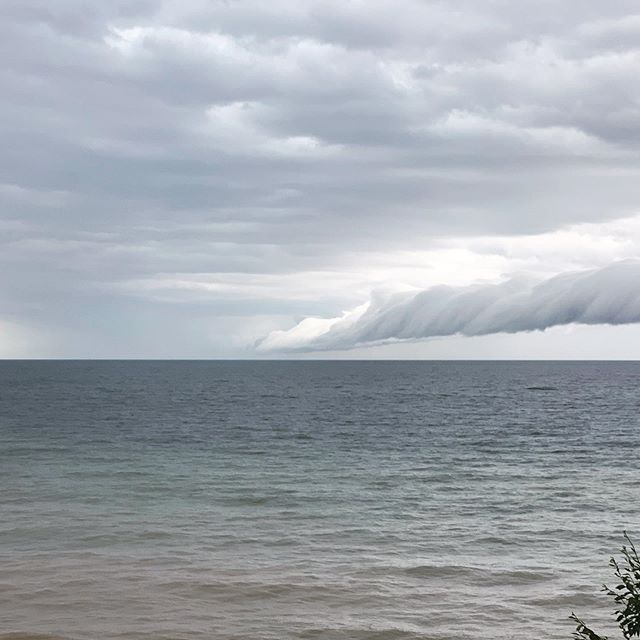 Storm clouds on Lake MI