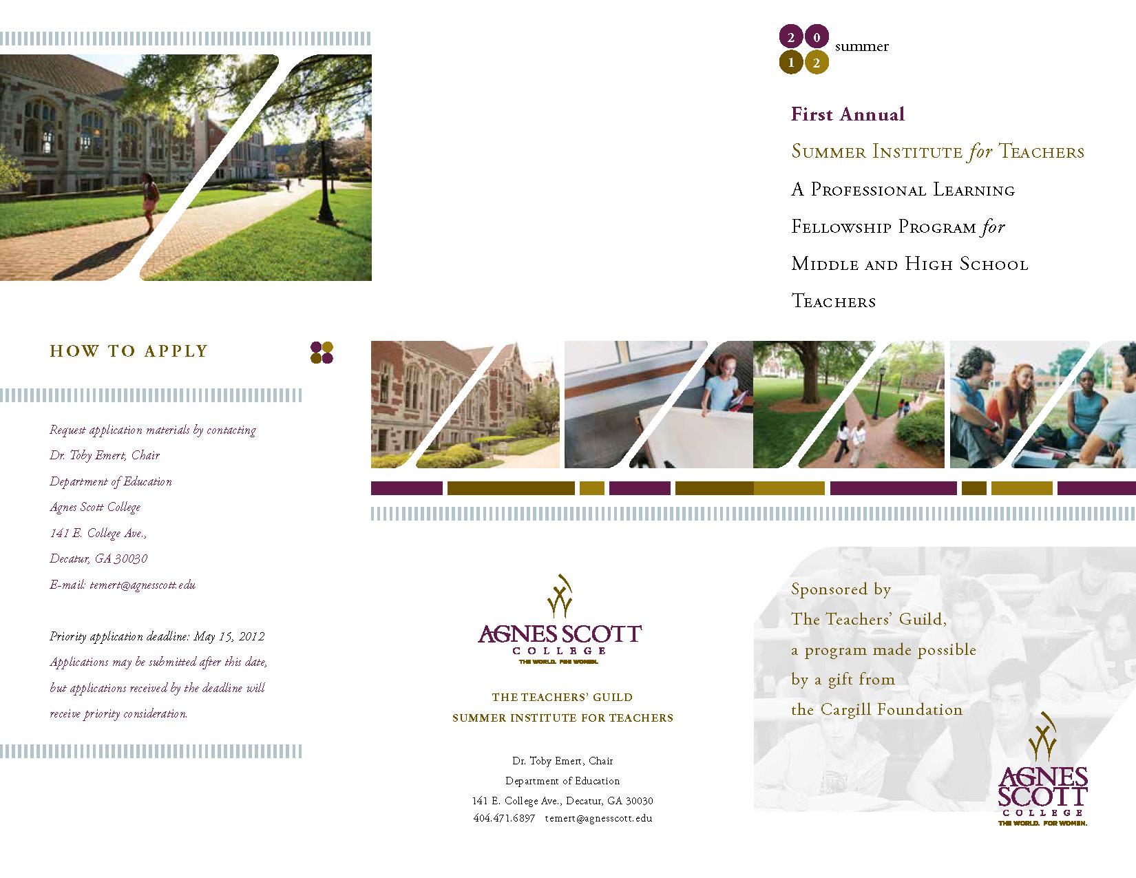 Agnes Scott College Conference for Teachers Brochure