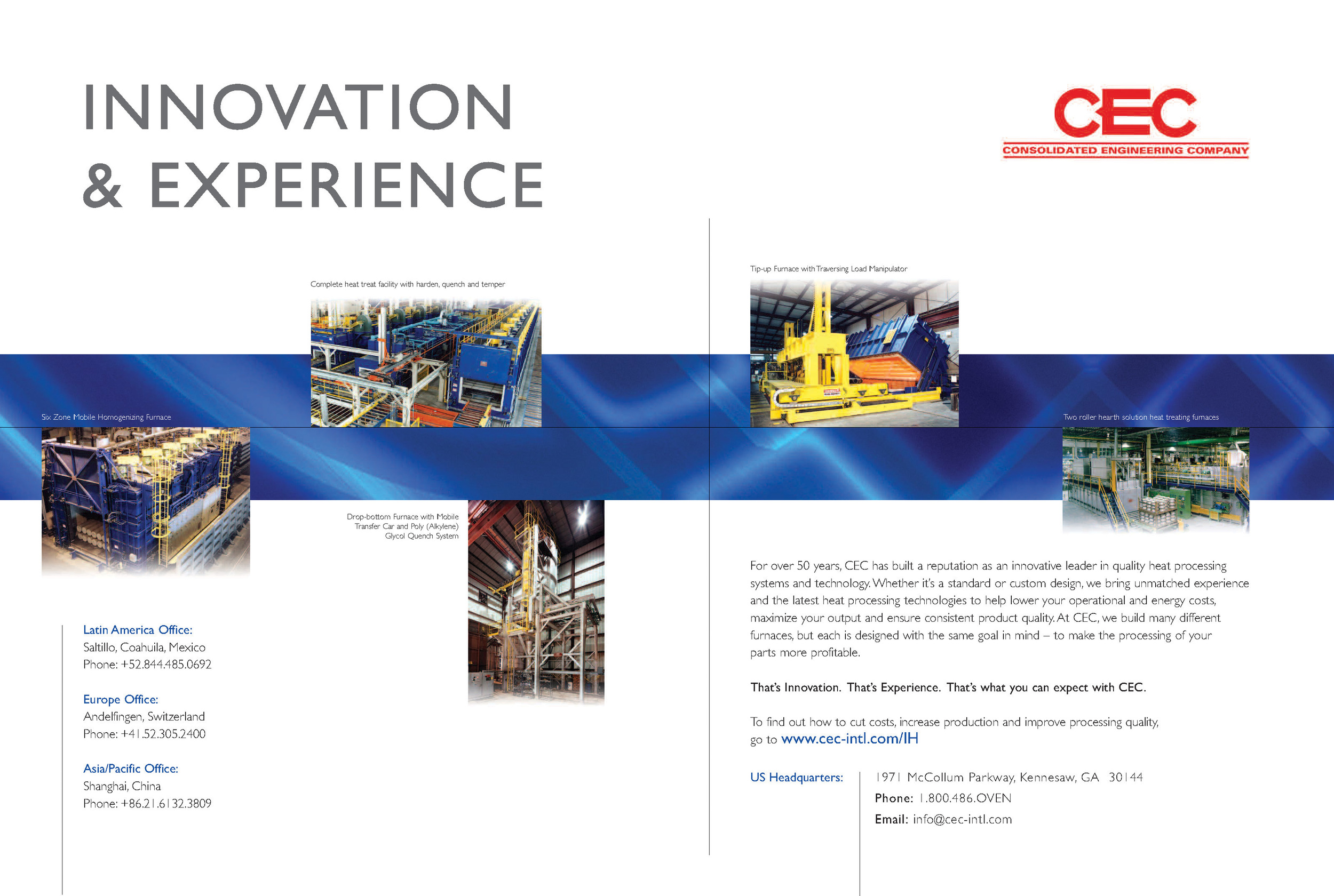 CEC Double Page Magazine Ad