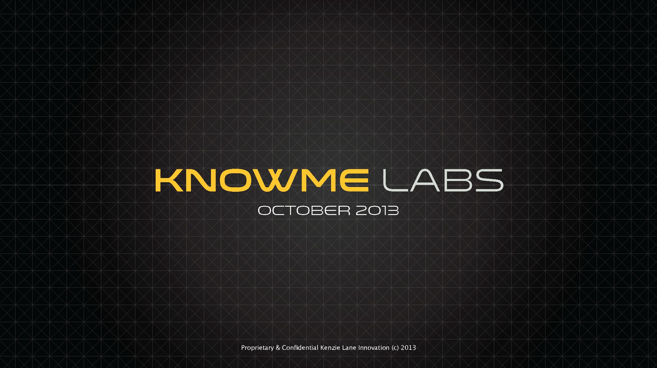 KnowMe Labs Presentation