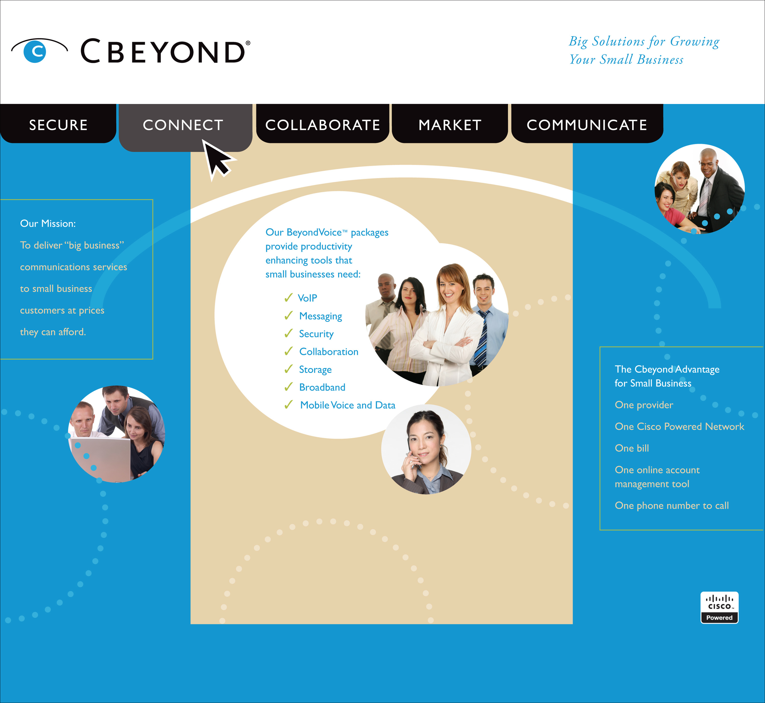 CBeyond Trade Show Booth Background Display