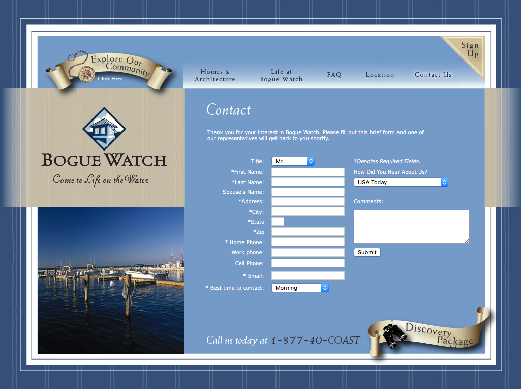 Bogue Watch Contact Page
