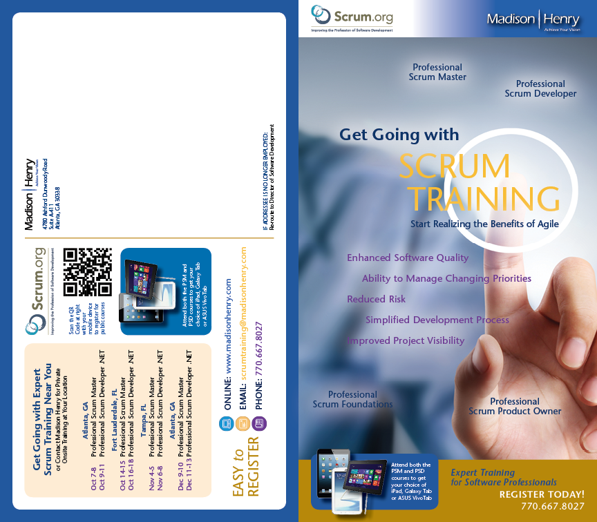 Madison-Henry Scrum Training Direct-Mailer Front