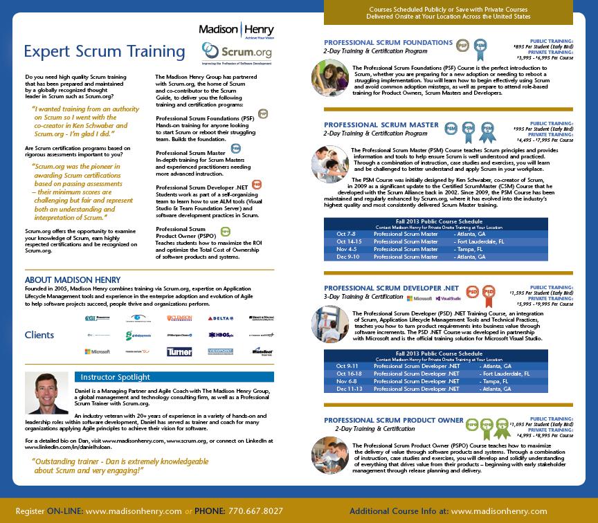 Madison-Henry Scrum Training Direct-Mailer Inside