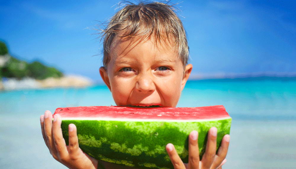 Child-with-Watermelon