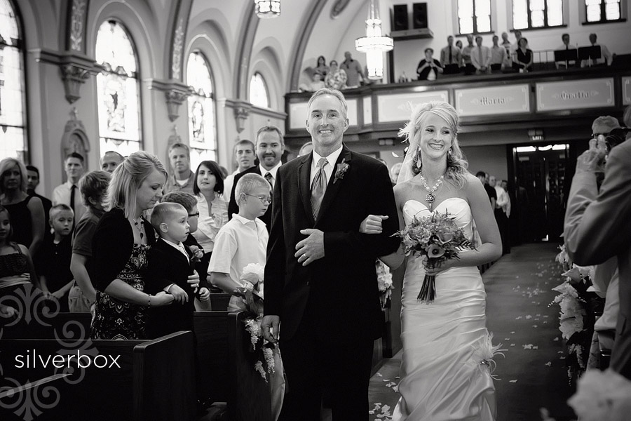 Coming Down the Aisle with SilverBox Photographers