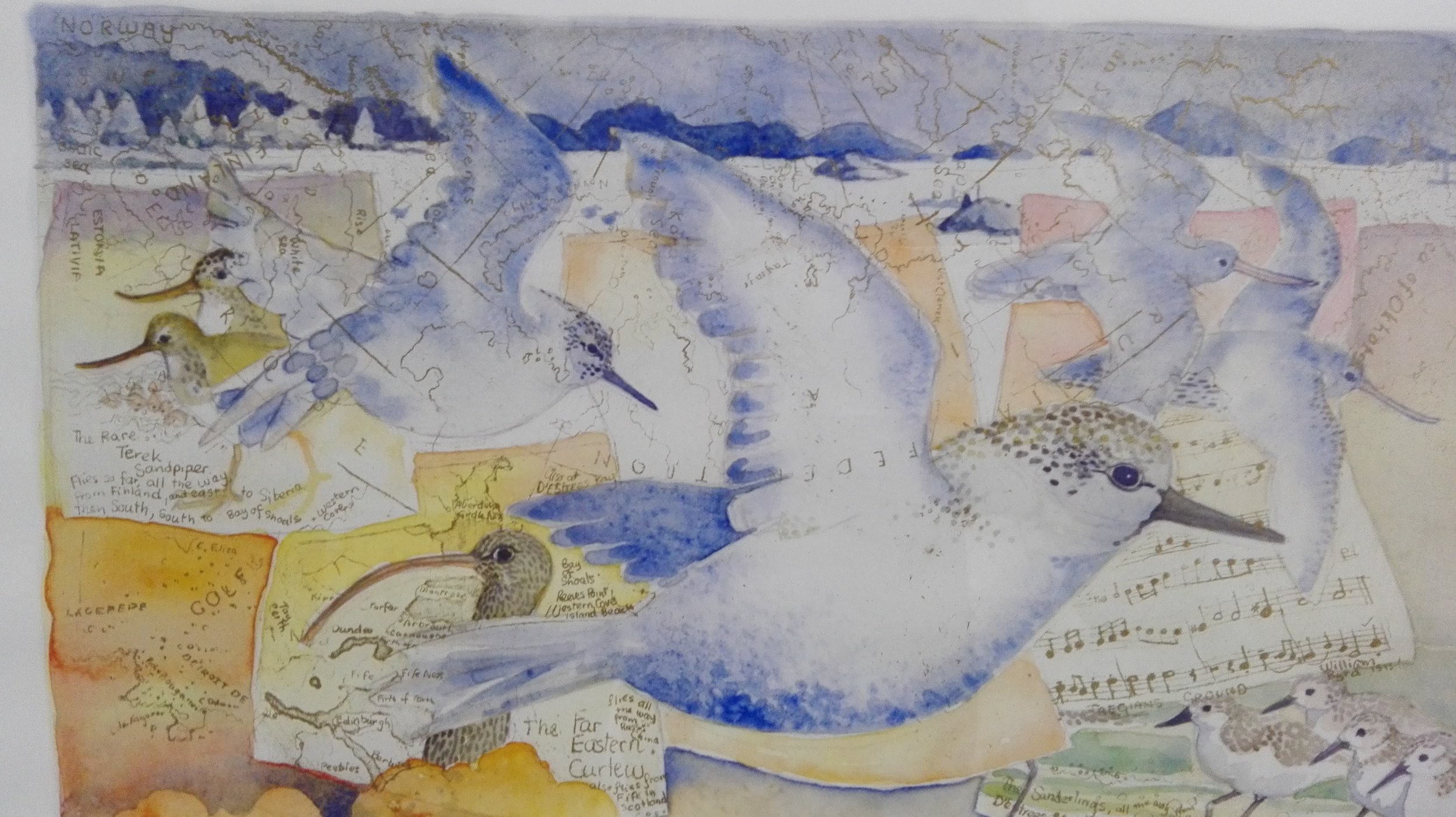 Detail from Birds Flying South
