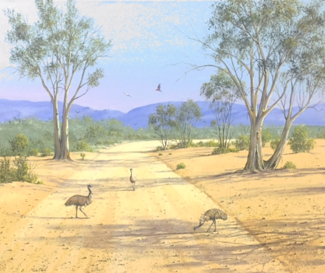 Road Stop Gathering - SOLD