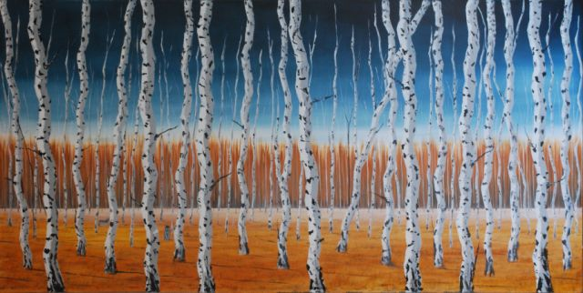 Autumn Birches - SOLD