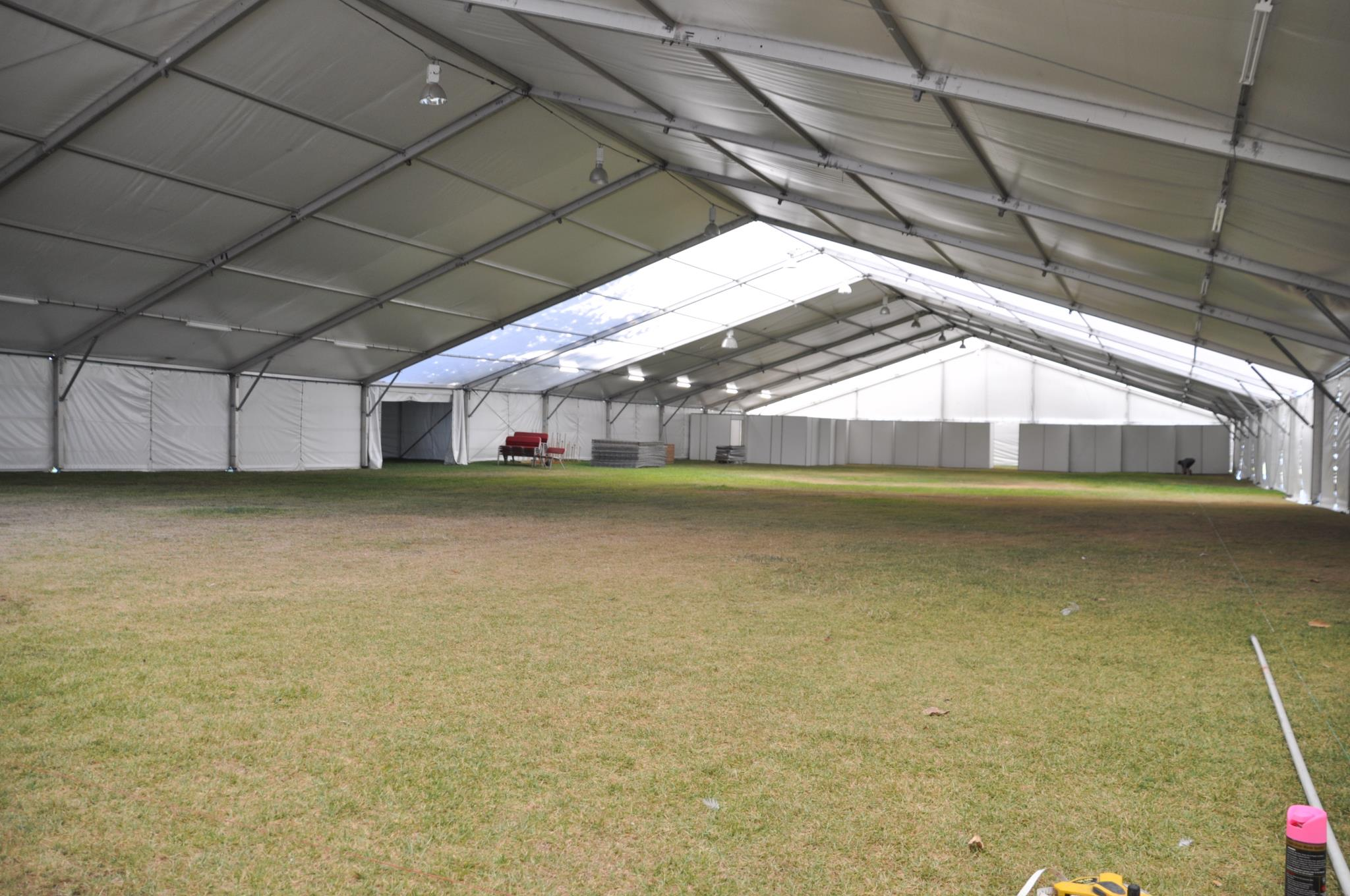 The big marquee is ready for the display boards and the paintings with a thousand stories to tell!