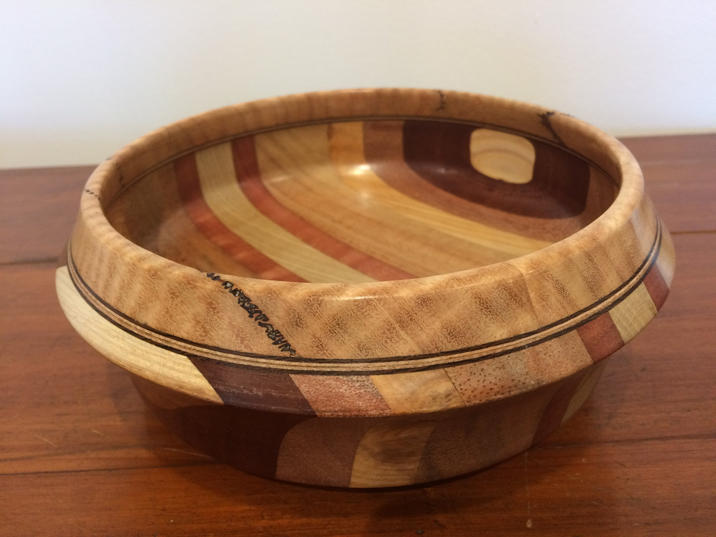 Assorted timber bowl with Marri rim