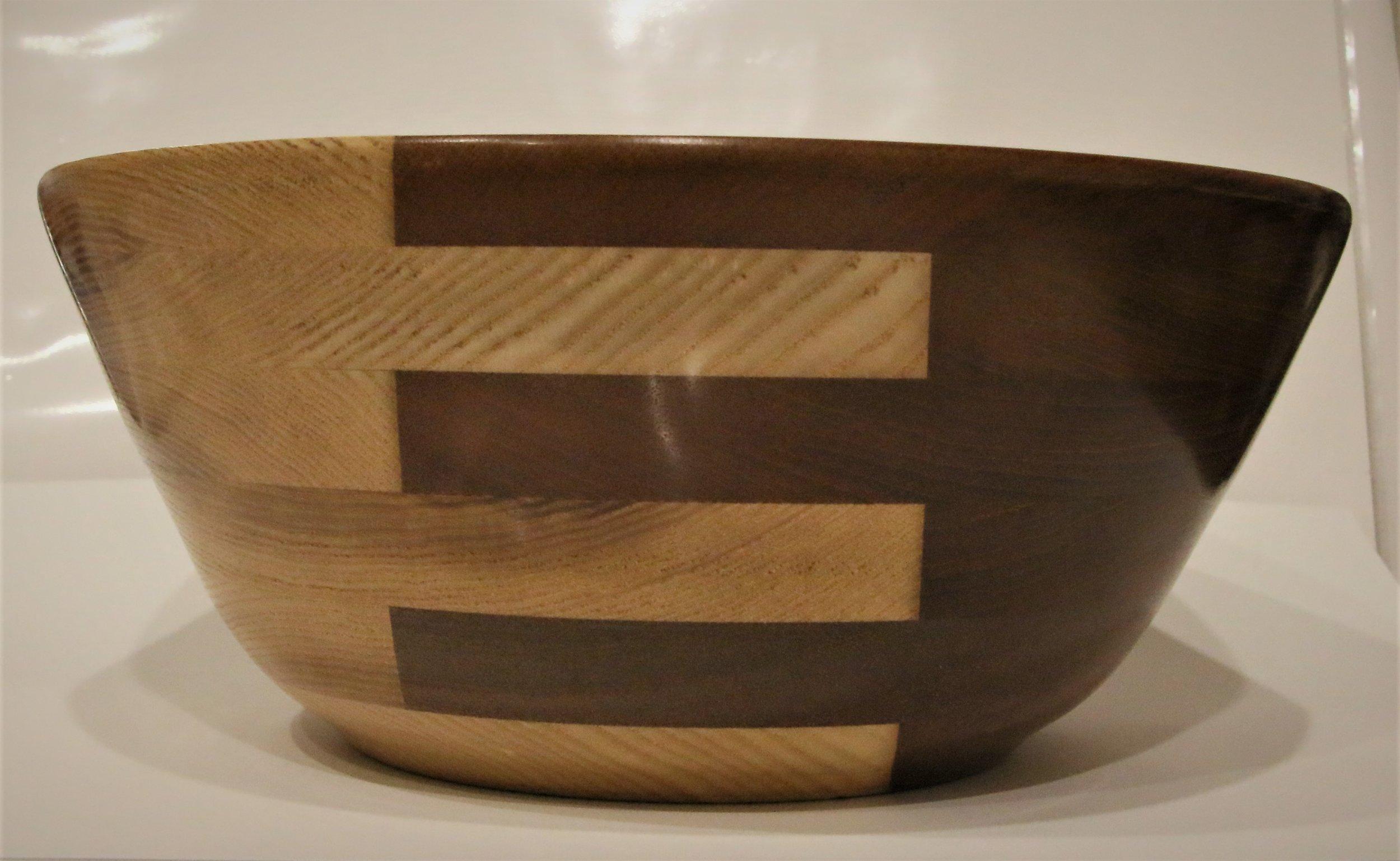 Large Bowl - American Ash, Brazilian Maple