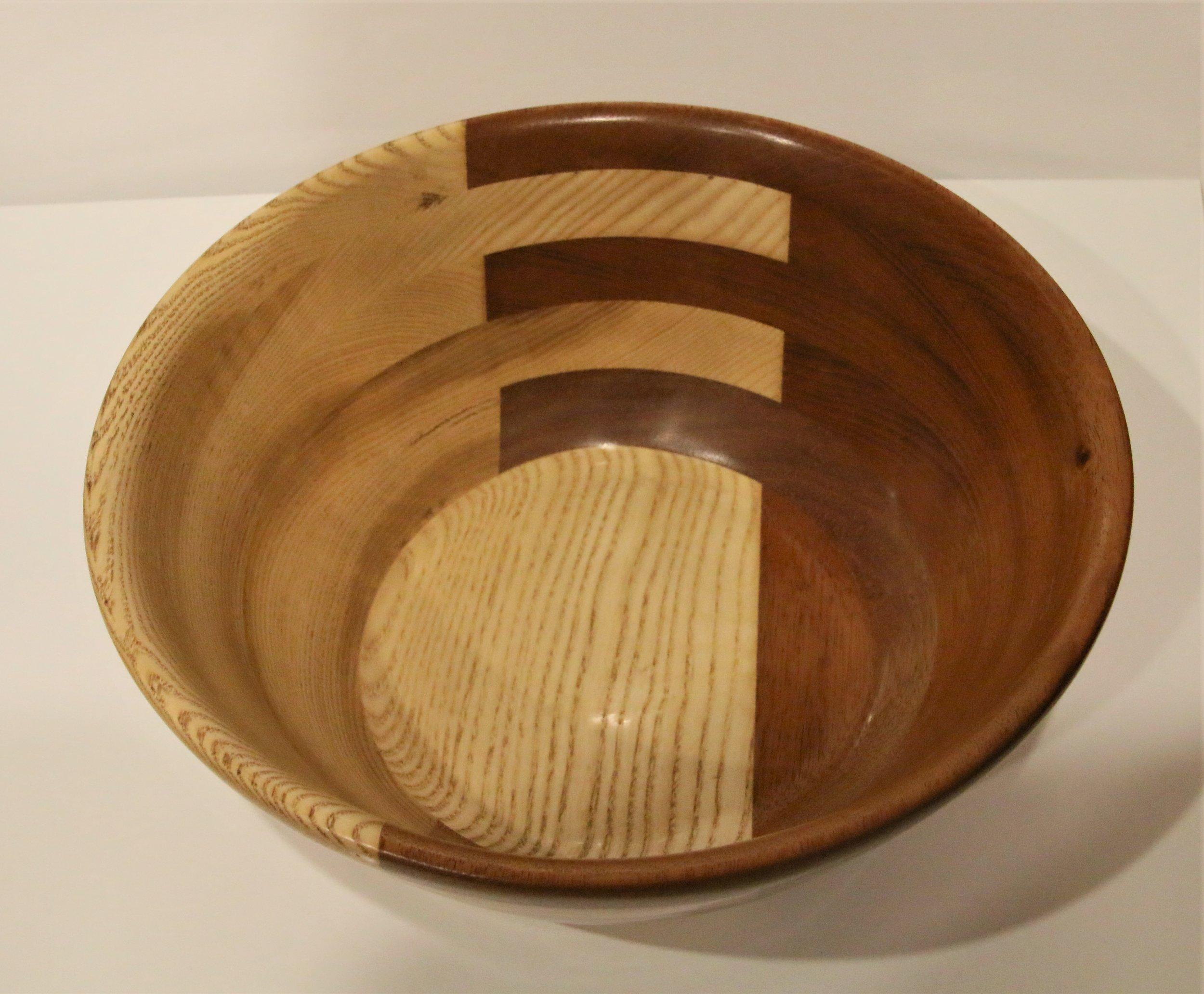 Medium Bowl - American Ash, Brazilian Maple