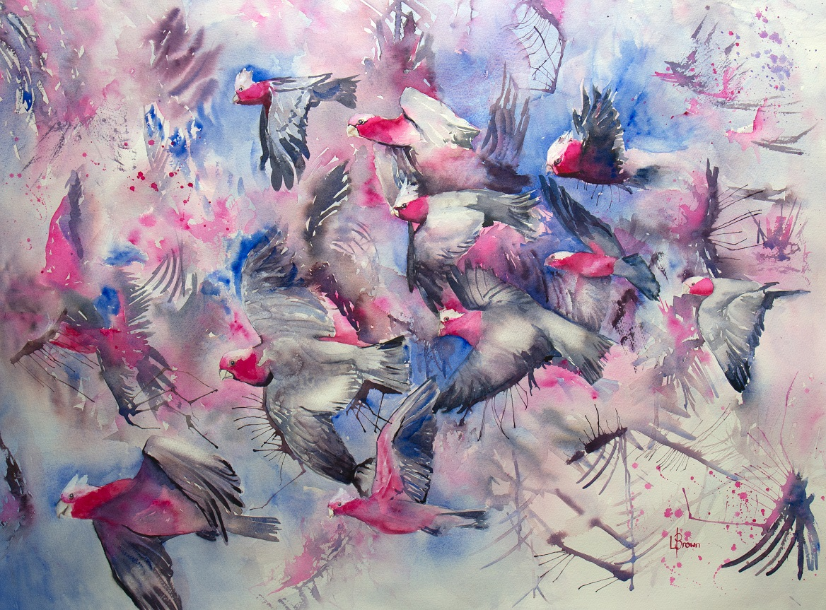 A Hot Pink Flock - SOLD